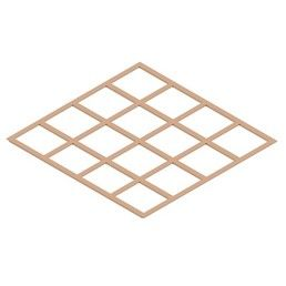 Lattice Copper Earth Plate