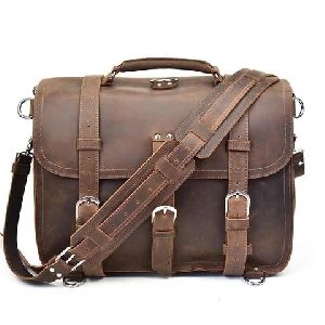 Convertible Leather Messenger Bag