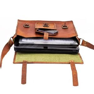Fancy Leather Messenger Bag
