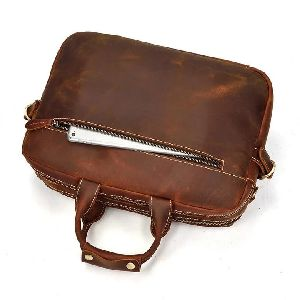 Genuine Leather Briefcase Messenger Bag