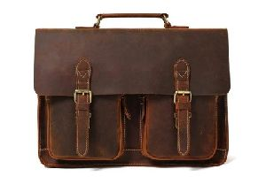 Handcrafted Leather Briefcase Messenger Bag