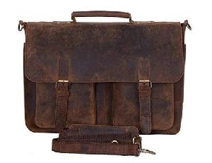 Laptop Leather Messenger Bag