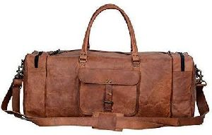 Stylish Leather Duffle Bag