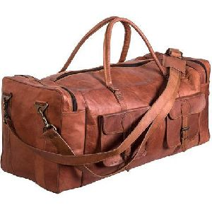 Voyager Travel Leather Duffel Bag
