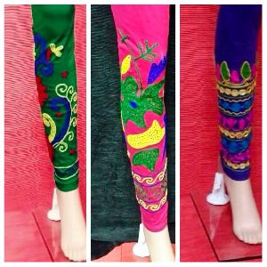 Ladies Embroidered Leggings