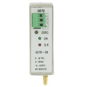Series 607D DIN Rail Mount Differential Pressure Transmitter
