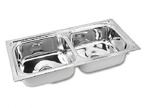 1000 Double Bowl Kitchen Sink