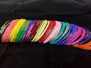 Glitter Velvet Glass Bangles