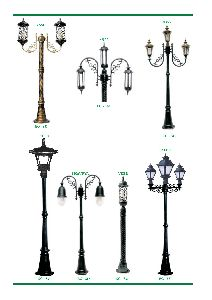 Cast Aluminium Garden Light Pole
