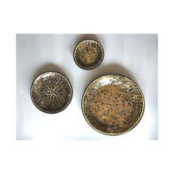 Antique Gold Mosaic Wall Plates