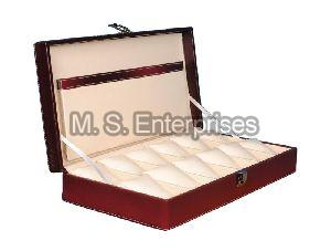 Hard Craft Watch Box Case PU Leather for 12 Watch Slots
