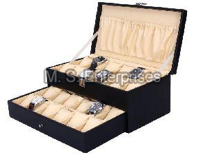 Hard Craft Watch Box Case PU Leather for 24 Watch Slots
