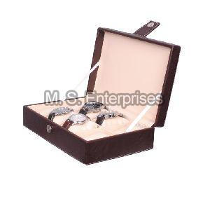 Hard Craft Watch Box Organizer PU Leather for 8 Watch Slots