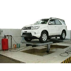 Hydraulic Car Washing with Tyre Rest Platform