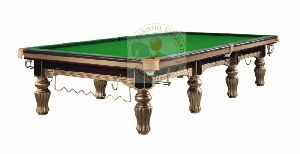 Bailey Gold Billiards Table In Steel Block Cushions