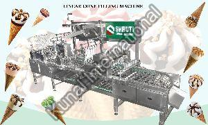 Linear Ice cream Cone Filling Machine