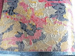cow printed foil leather