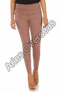 Plain Brown Jeggings