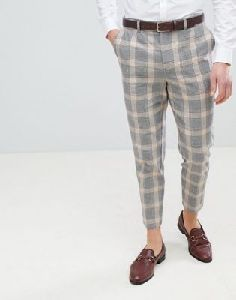 Mens Checkered Trousers