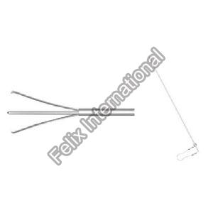 PCNL Tri-Prong Forceps