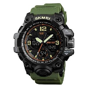SKM-1327 Army Print Analog Digital Wrist Watch