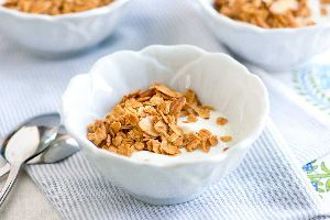 Crunchy Muesli Almonds Raisins and Honey Corn Flakes