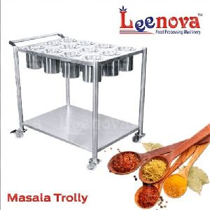 Stainless Steel Kitchen Masala Trolley