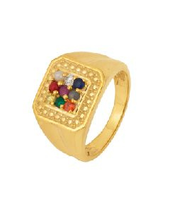 Gold Plated Elegant Statement Ring