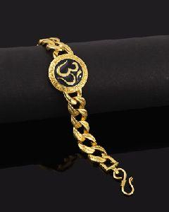 Handmade Gold Plated Om Bracelet