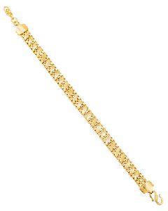Handmade Rope Link Gold Plated Bracelet