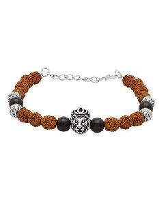 Rudraksha Lion Bracelet