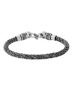 Silver Oxidized Bracelet