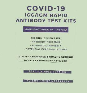 COVID 19 Rapid Antibody Test Kits