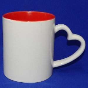 Sublimation Heart Handle Mug Colored Mug