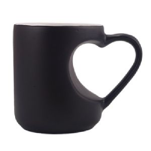 Sublimation Magic Mug Heart Cut Handle