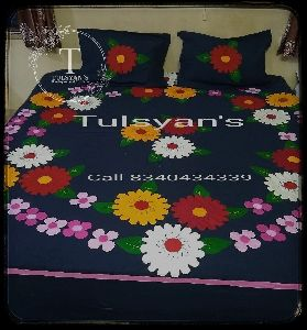 Applique Work Bedsheet