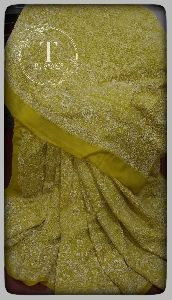 Chikankari Work Saree