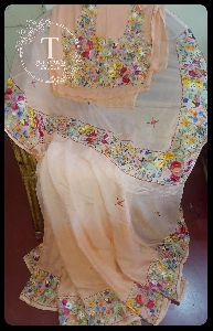 Convent Embroidery Saree