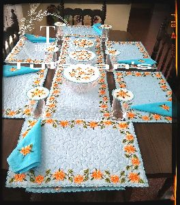 Fancy Dining Table Cover Set