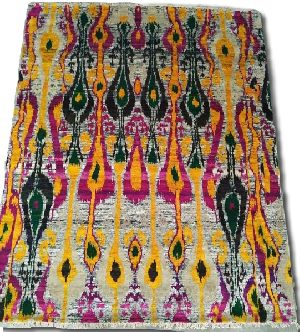 GE-70 Hand Knotted Sari Silk & Cotton Carpets