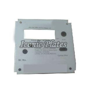 Metal Meter Nameplate