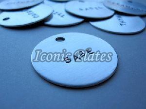 Round Aluminum Label