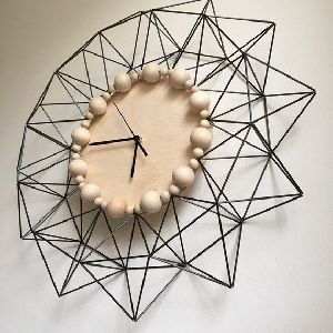 Wire Geometric Wall Clock