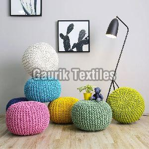 Cotton Knitted Pouf