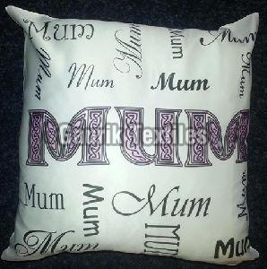 Foil Print Cotton Cushion