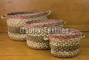 Multicolor Braided Basket