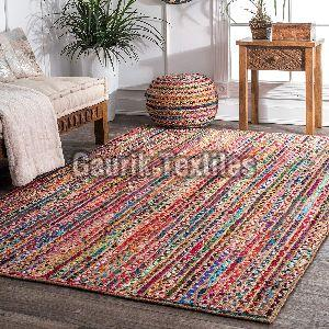 Multicolor Jute Cotton Braided Rug