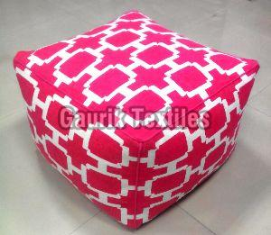 Cotton Printed Pouf