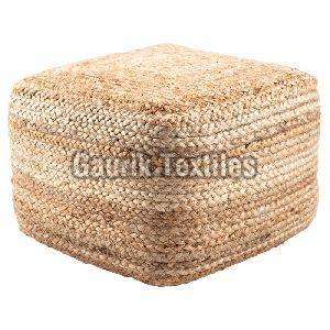 Plain Jute Braided Pouf