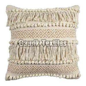 Handloom Cotton Textured Cushion